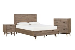 Caleb California King Storage 3 Piece Bedroom Set