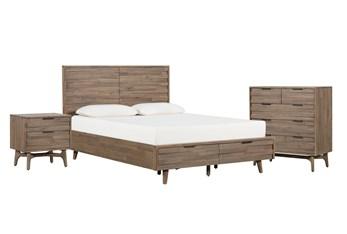 Caleb California King Storage 3 Piece Bedroom Set