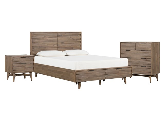Caleb California King Storage 3 Piece Bedroom Set - 360