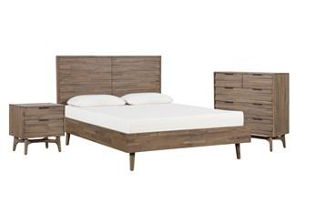 Caleb California King Platform 3 Piece Bedroom Set