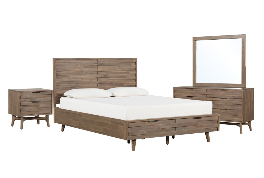 Caleb Eastern King Storage 4 Piece Bedroom Set