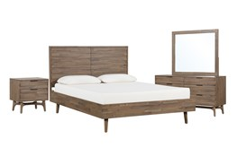 Caleb Eastern King Platform 4 Piece Bedroom Set