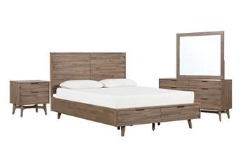 Caleb Queen Storage 4 Piece Bedroom Set