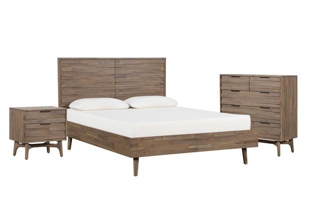 Caleb Queen Platform 3 Piece Bedroom Set - 360