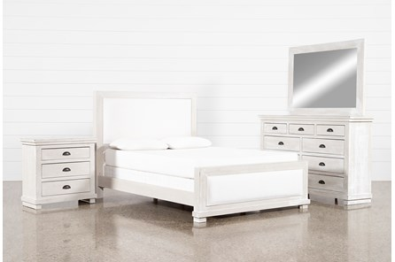 Sinclair Pebble California King Panel 4 Piece Bedroom Set
