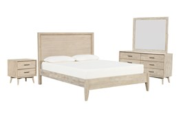 Allen Eastern King Panel 4 Piece Bedroom Set