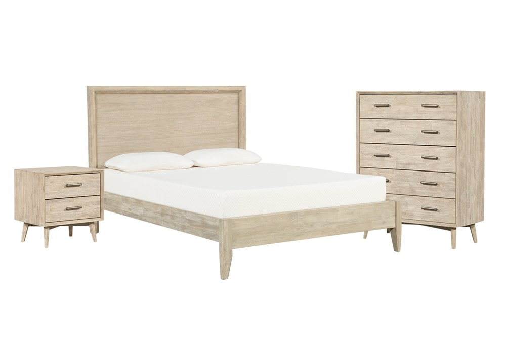 Allen California King Panel 3 Piece Bedroom Set