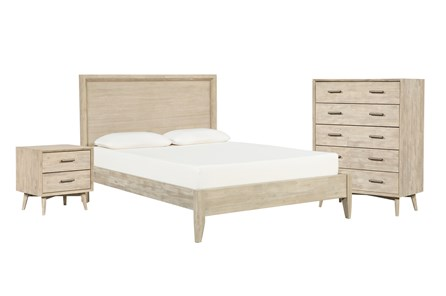 Allen California King Panel 3 Piece Bedroom Set