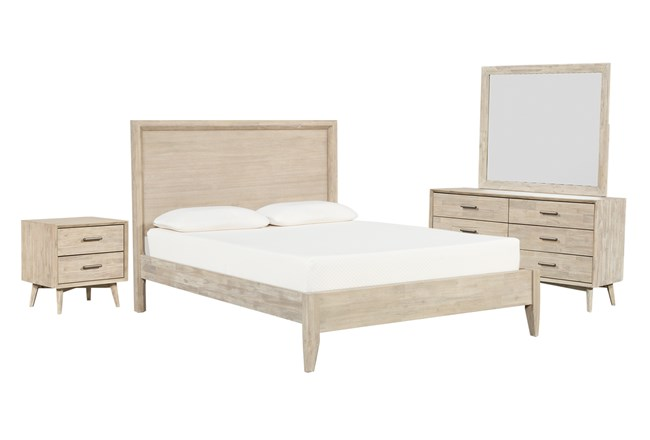 Allen California King Panel 4 Piece Bedroom Set - 360