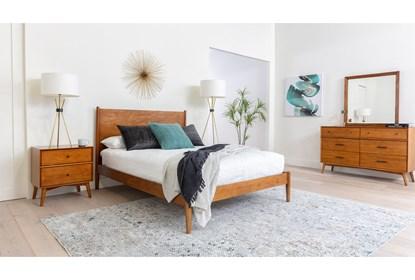 Alton Cherry California King Platform 4 Piece Bedroom Set - Room