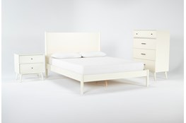 Alton Ecru Eastern King Platform 3 Piece Bedroom Set