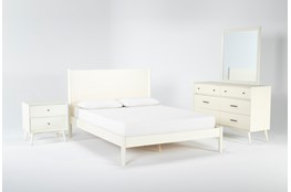 Alton Ecru Eastern King Platform 4 Piece Bedroom Set