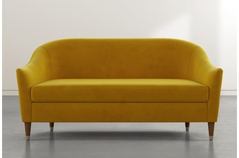 Marta Yellow Velvet Sofa By Nate Berkus And Jeremiah Brent