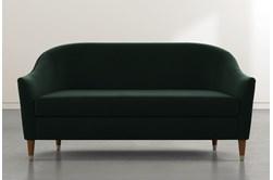 Marta Dark Green Velvet Sofa By Nate Berkus And Jeremiah Brent