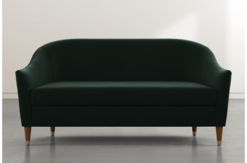 Marta Dark Green Velvet Sofa By Nate Berkus And Jeremiah Brent