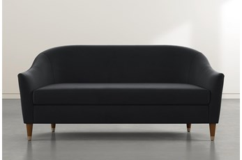 Marta Black Velvet Sofa By Nate Berkus And Jeremiah Brent