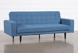 "Petula Blue 84"" Convertible Sofa Bed"