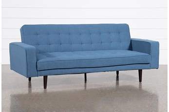 "Petula Blue Convertible 84"" Sofa Bed"
