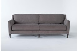 "Ames Mocha 90"" Sofa By Nate Berkus And Jeremiah Brent"