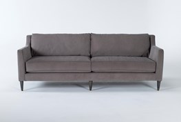 "Ames Mocha 90"" Sofa By Nate Berkus And Jeremiah Brent"