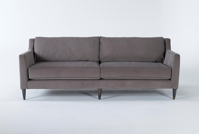"Ames Mocha 90"" Sofa By Nate Berkus And Jeremiah Brent - 360"