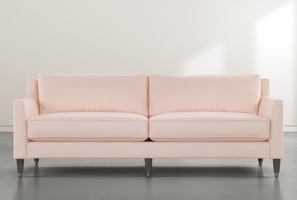Ames Pink Velvet Sofa By Nate Berkus And Jeremiah Brent