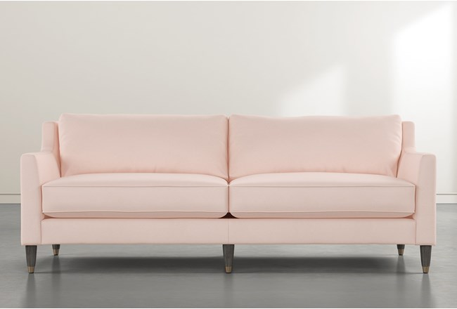 Ames Pink Velvet Sofa By Nate Berkus And Jeremiah Brent - 360