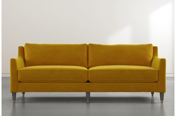Ames Yellow Velvet Sofa By Nate Berkus And Jeremiah Brent