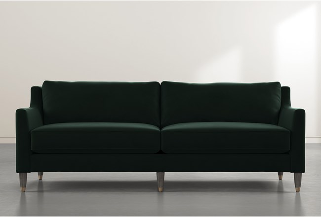 Ames Green Velvet Sofa By Nate Berkus And Jeremiah Brent - 360