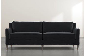 Ames Black Velvet Sofa By Nate Berkus And Jeremiah Brent