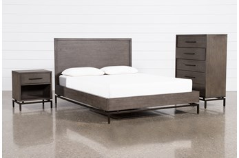 Haynes Eastern King Platform 3 Piece Bedroom Set