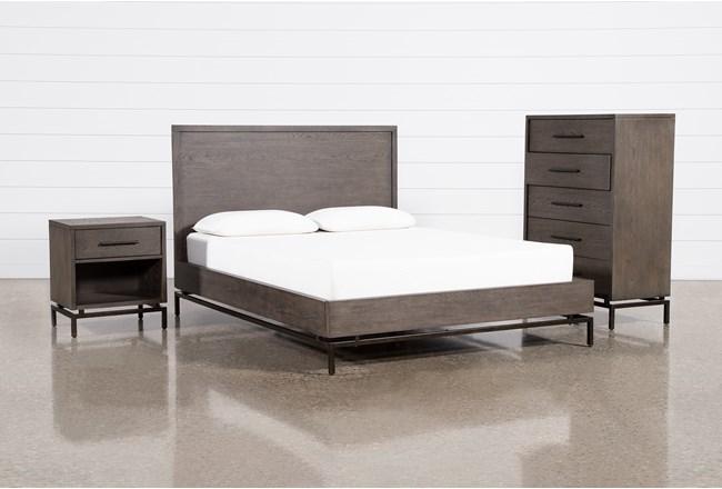 Haynes Queen Platform 3 Piece Bedroom Set - 360