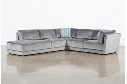 """Retreat 5 Piece 114"""" Sectional With Left Facing Bumper Chaise"""