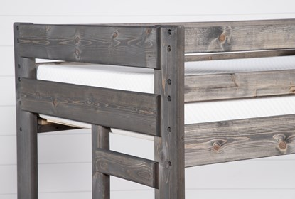Durango Grey Twin Over Twin Bunk Bed Living Spaces