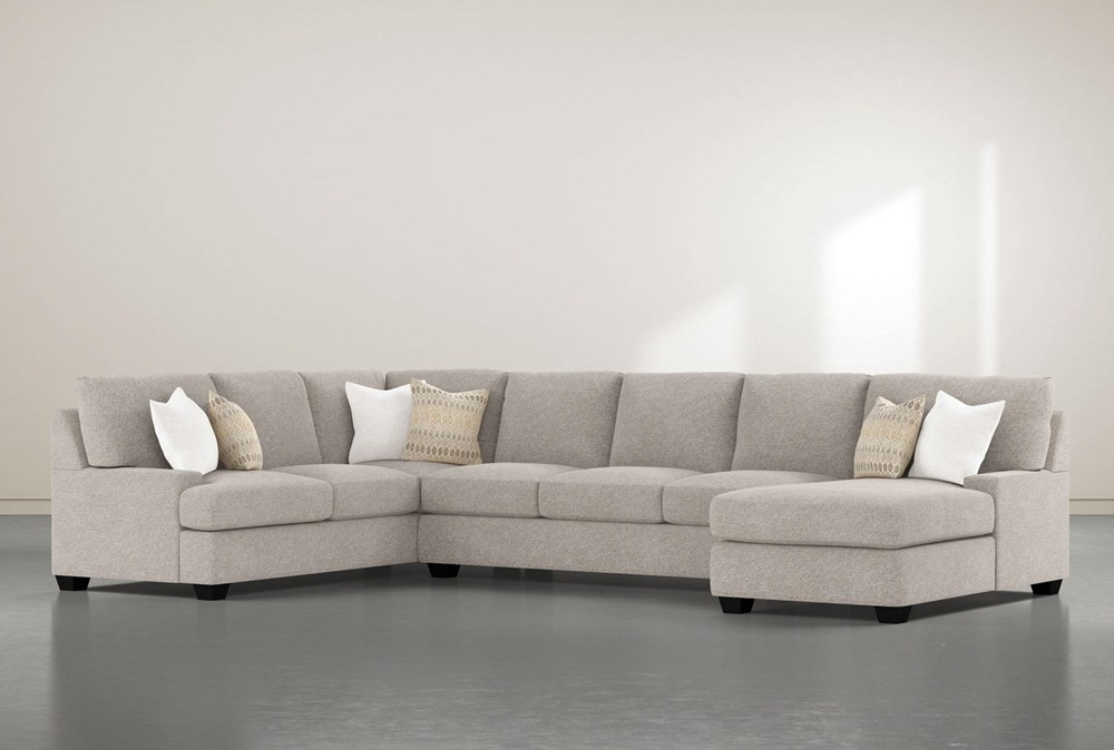 """Harper Down II 3 Piece 157"""" Sectional With Right Arm Facing Chaise"""