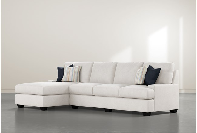 """Harper Foam II 2 Piece 124"""" Sectional With Left Arm Facing Chaise - 360"""
