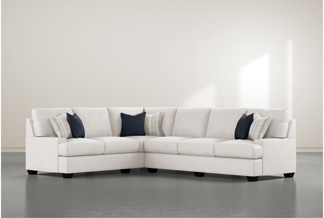"""Harper Foam II 2 Piece 125"""" Sectional With Right Arm Facing Sofa - 360"""