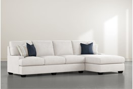 """Harper Foam II 2 Piece 124"""" Sectional With Right Arm Facing Chaise"""