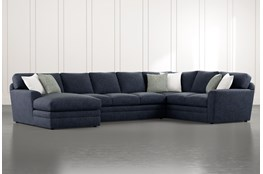 Prestige Foam 3 Piece Sectional With Left Arm Facing Chaise