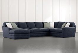 """Prestige Foam 3 Piece 159"""" Sectional With Left Arm Facing Chaise"""