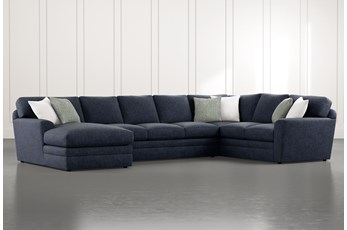 "Prestige Foam 3 Piece 159"" Sectional With Left Arm Facing Chaise"