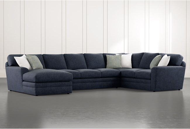 Prestige Foam 3 Piece Sectional With Left Arm Facing Chaise - 360
