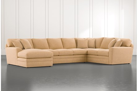 Prestige Foam Yellow 3 Piece Sectional With Left Arm Facing Chaise