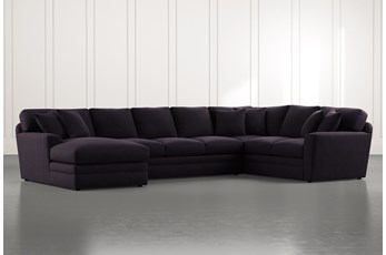 Prestige Foam Black 3 Piece Sectional With Left Arm Facing Chaise