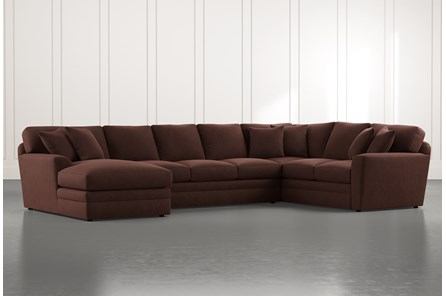 Prestige Foam Brown 3 Piece Sectional With Left Arm Facing Chaise