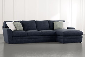 """Prestige Foam 2 Piece 126"""" Sectional With Right Arm Facing Chaise"""