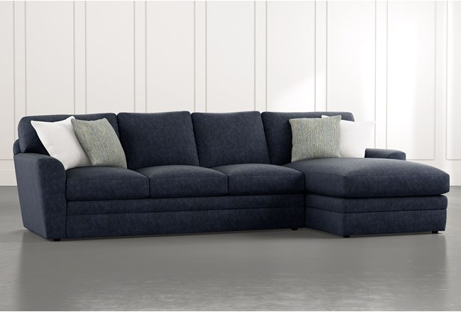 """Prestige Foam 2 Piece 126"""" Sectional With Right Arm Facing Chaise - 360"""