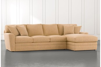 Prestige Foam Yellow 2 Piece Sectional With Left Arm Facing Chaise