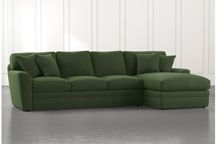 Prestige Foam Green 2 Piece Sectional With Left Arm Facing Chaise