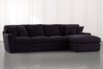 Prestige Foam Black 2 Piece Sectional With Left Arm Facing Chaise